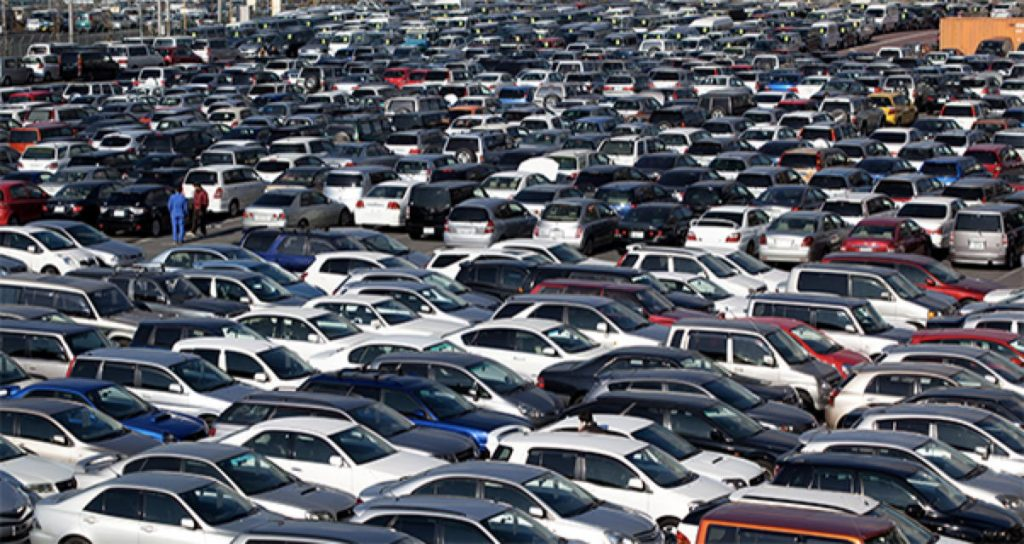 sea of cars